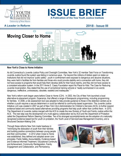 Close to Home Issue Brief 4-9-18