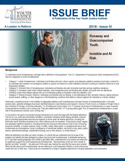 Front page Youth Homelessness Issue Brief 5-31-18 Final