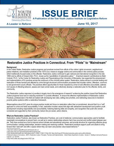 Restorative Justice 6-12-17